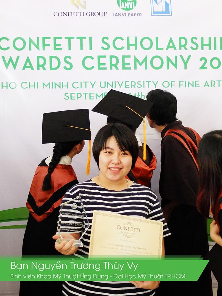 Giấy Lan Vi | Lanvi Paper - Các bạn sinh viên được nhận học bổng Confetti của khoa Mỹ Thuật Ứng Dụng - Đại Học Mỹ Thuật TP.HCM
