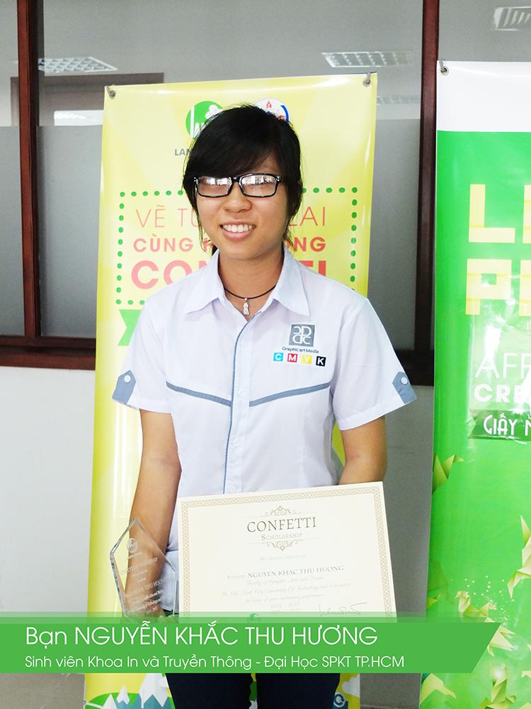 Giấy Lan Vi | Các bạn sinh viên nhận học bổng Confetti 2015
