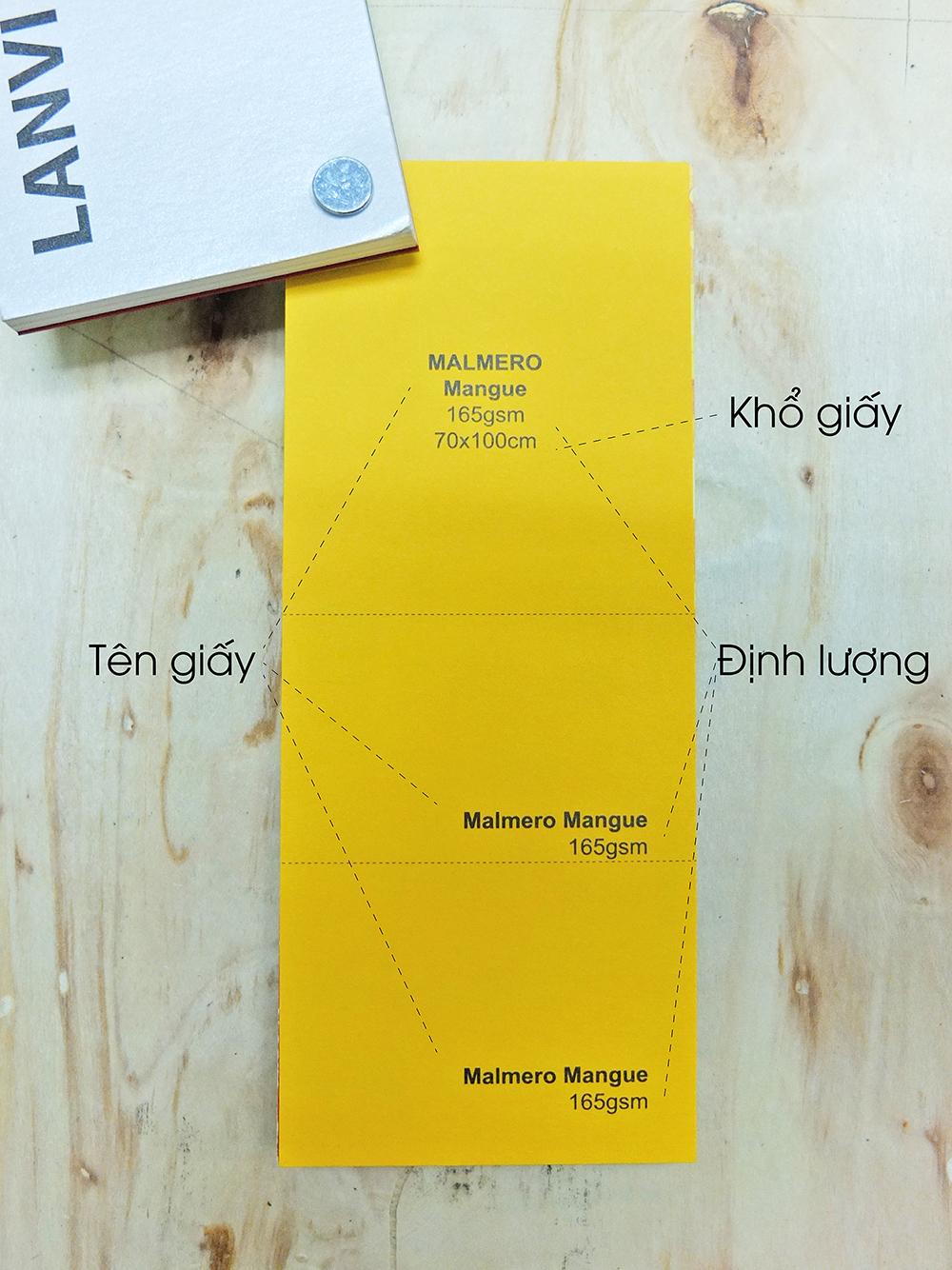 Giấy Lan Vi | Các thông tin trên bộ mẫu giấy mỹ thuật
