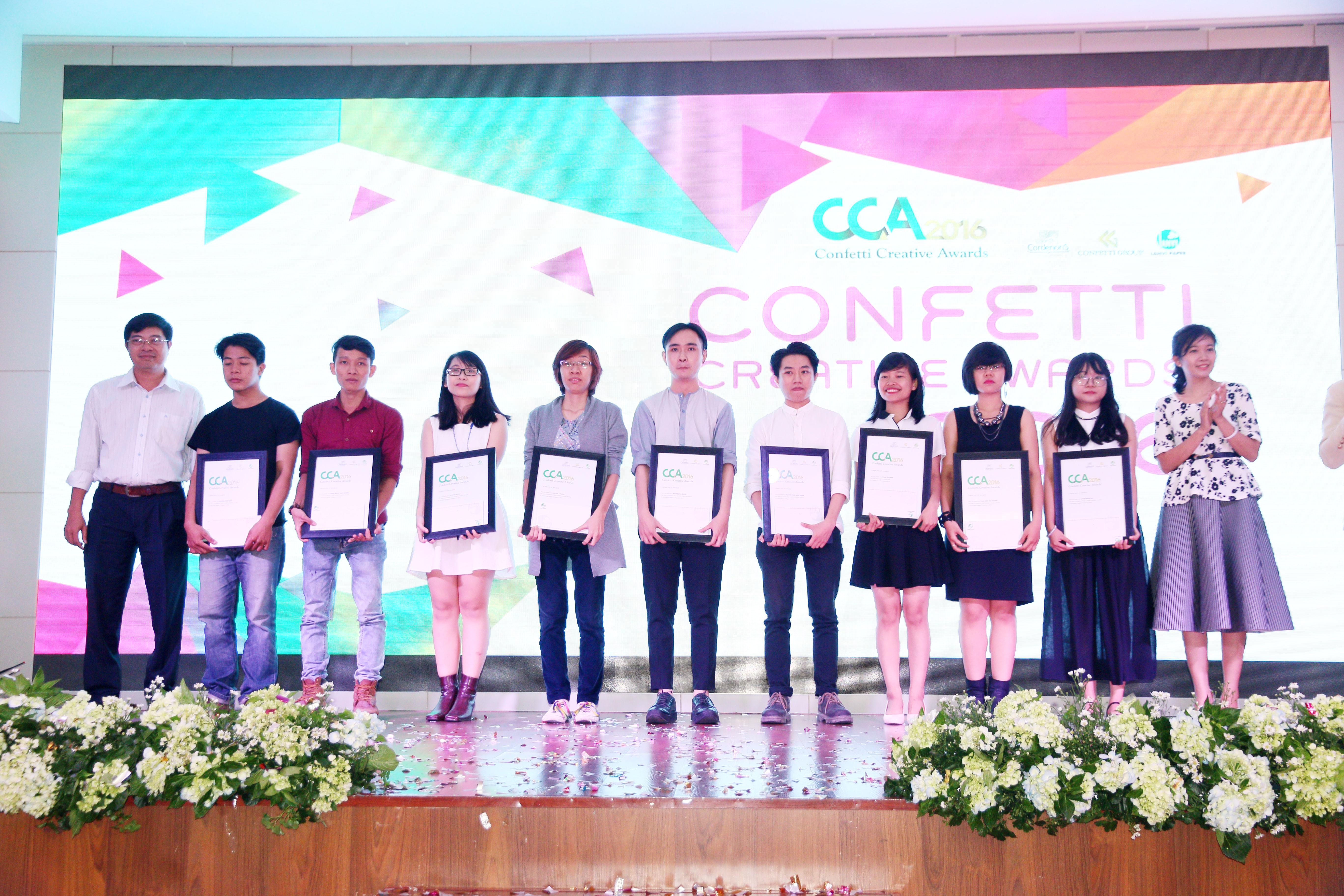 Các thí sinh đoạt giải khuyến khích của cuộc thi thiết kế Confetti Creative Awards 2016