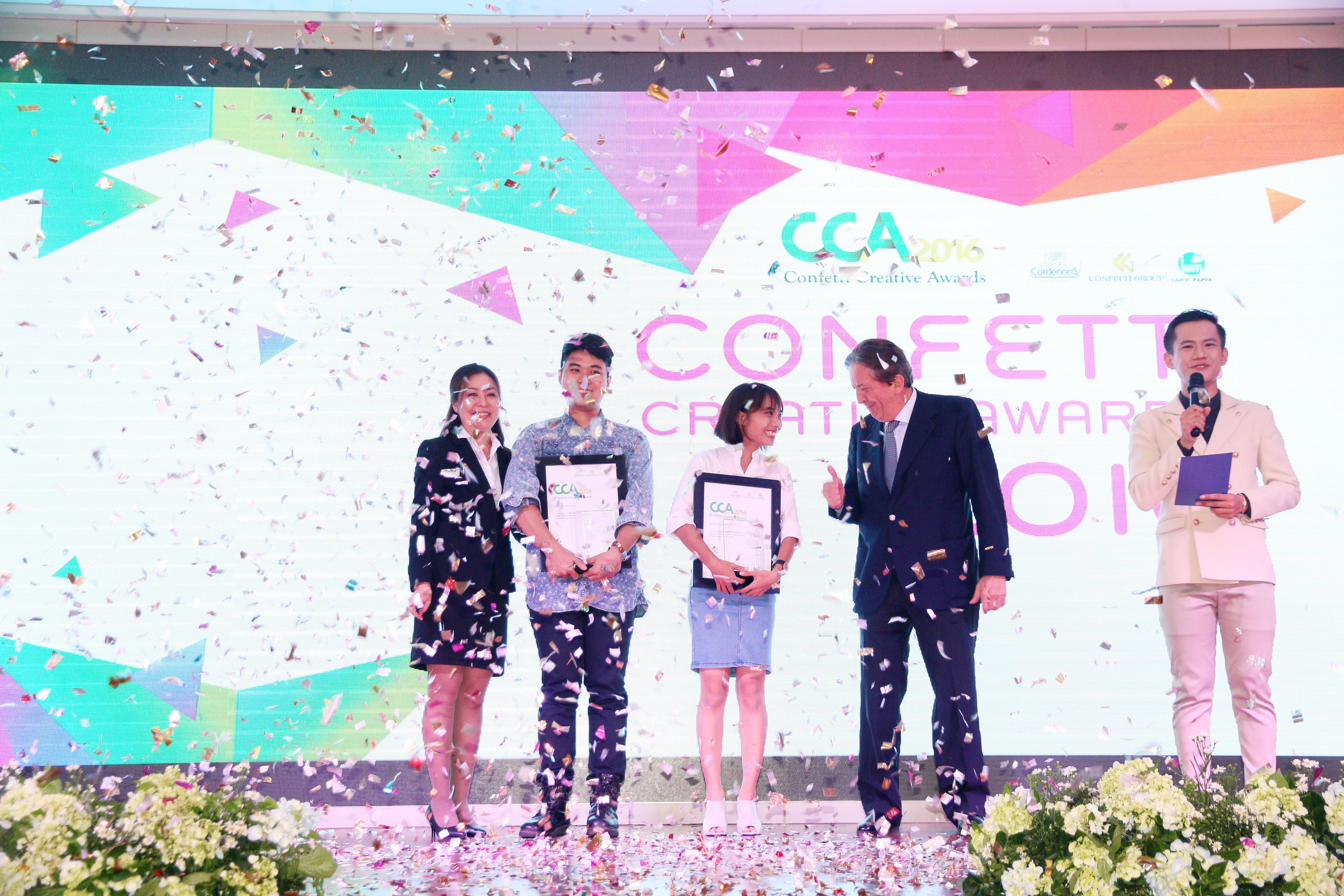 Các thí sinh đoạt giải nhất của cuộc thi thiết kế Confetti Creative Awards 2016