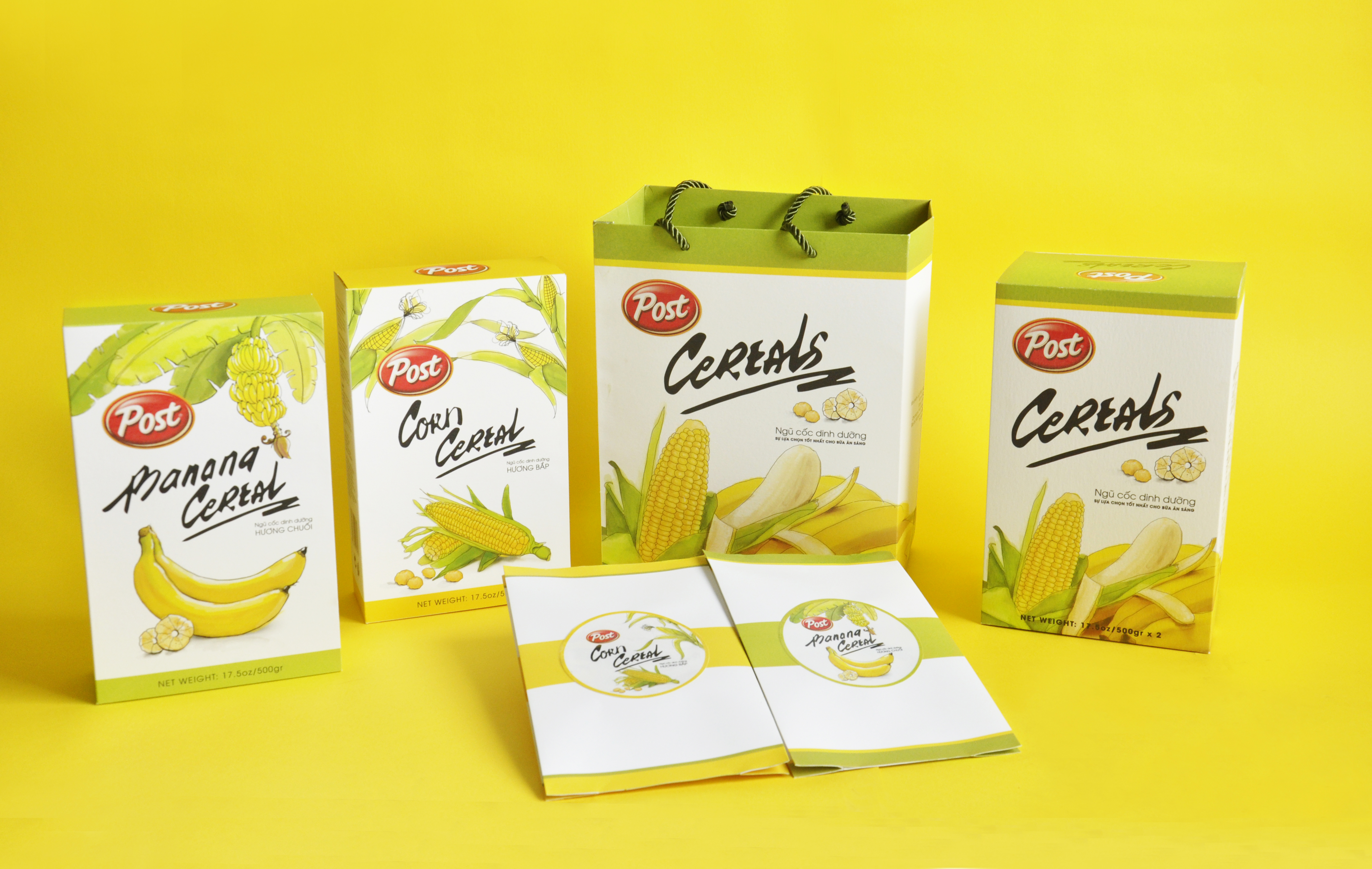 Giấy Lan Vi | Bộ bao bì ngũ cốc Post Cereal