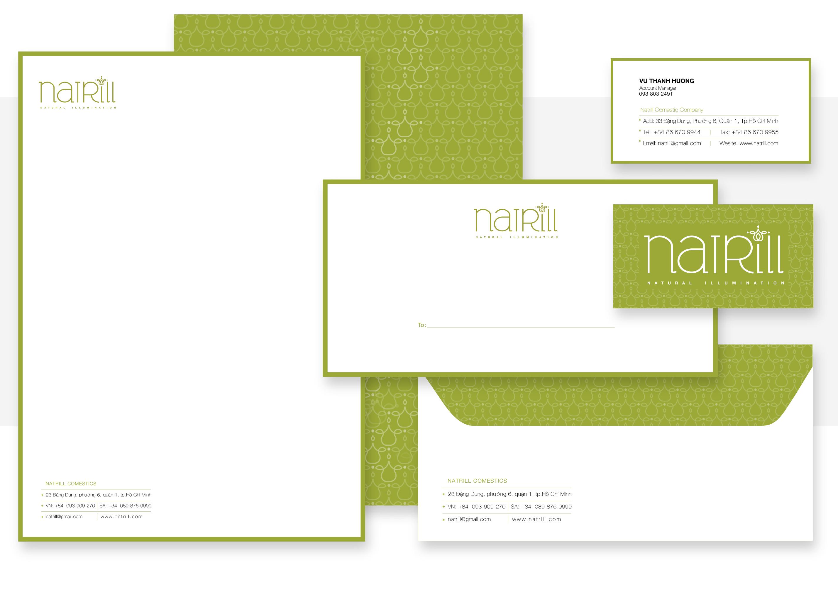 Giấy Lan Vi | Bộ ấn phẩm văn phòng Natrill