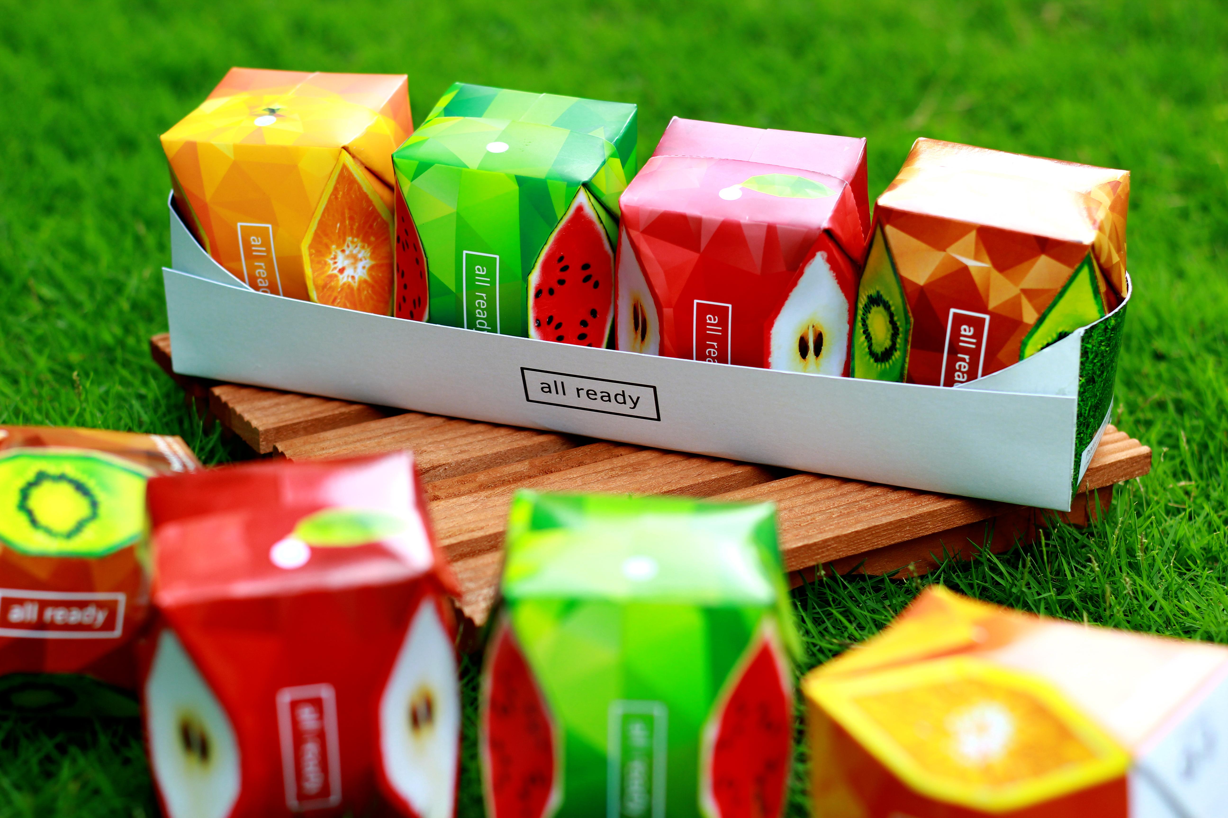 Giấy Lan Vi | Bộ bao bì nước trái cây All Ready