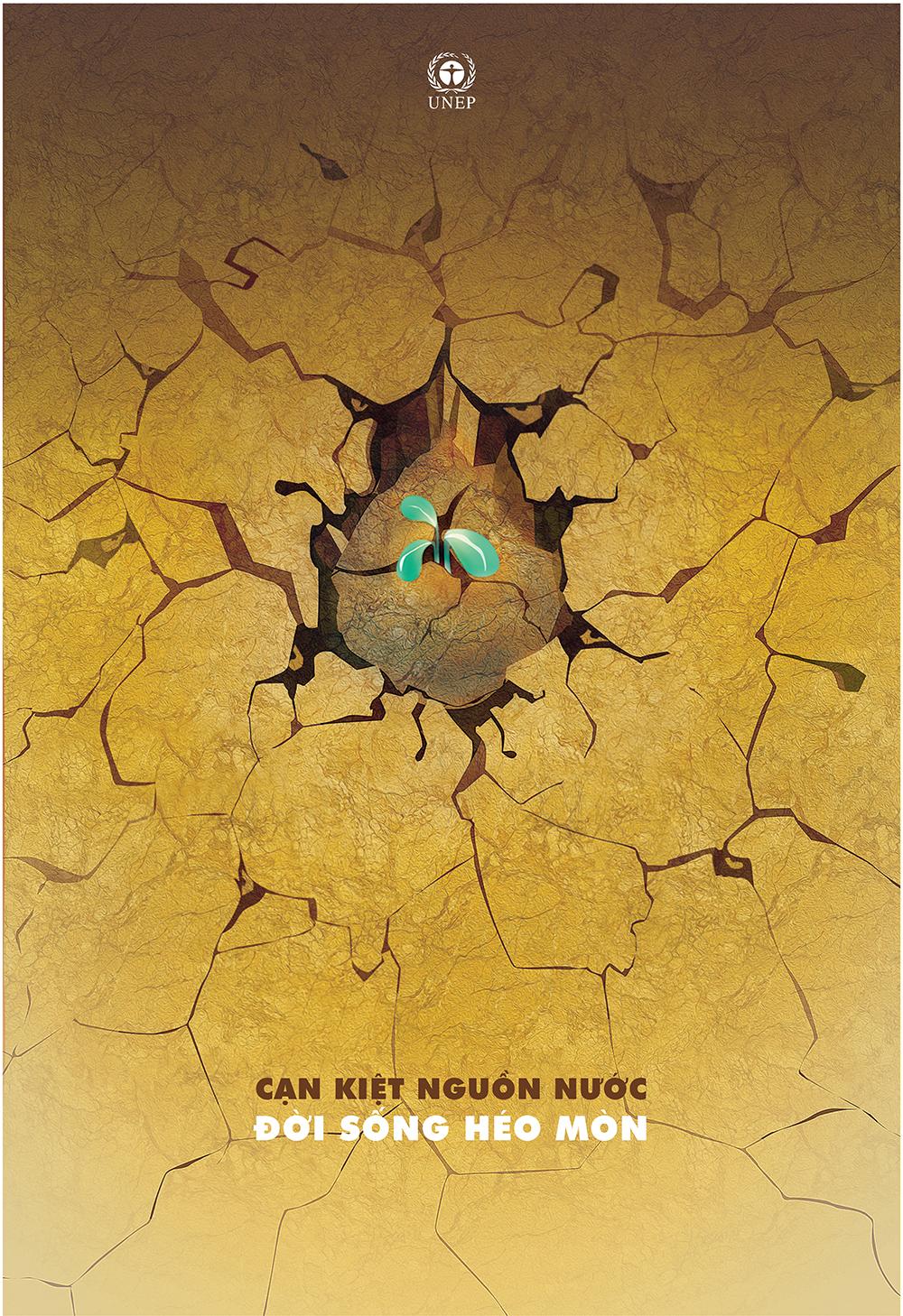 Giấy Lan Vi | Poster Cạn kiệt nguồn nước